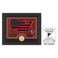 NFL Atlanta Falcons Country Framed Wall Art with Bronze Team Coin