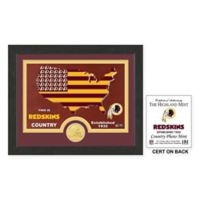NFL Washington Redskins Country Framed Wall Art with Bronze Team Coin