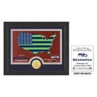 NFL Seattle Seahawks Country Framed Wall Art with Bronze Team Coin