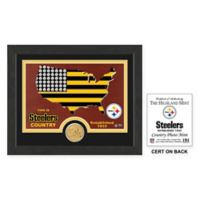 NFL Pittsburgh Steelers Country Framed Wall Art with Bronze Team Coin
