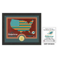 NFL Miami Dolphins Country Framed Wall Art with Bronze Team Coin