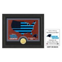 NFL Carolina Panthers Country Framed Wall Art with Bronze Team Coin