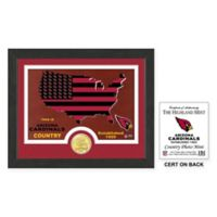 NFL Arizona Cardinals Country Framed Wall Art with Bronze Team Coin