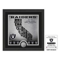 "NFL Oakl& Raiders ""State"" Photo Mint"
