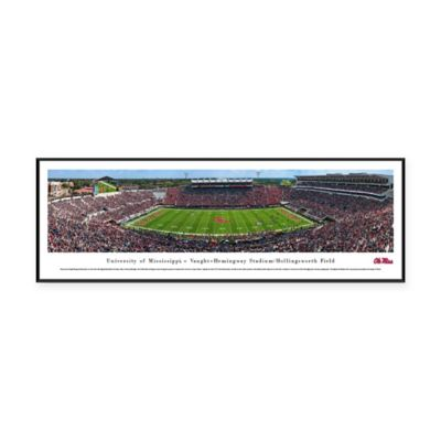 university of mississippi vaught hemmingway stadium panoramic print with standard frame
