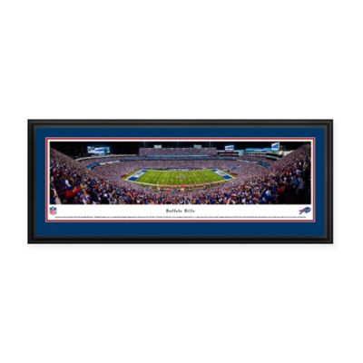 nfl buffalo bills new era field panoramic print with deluxe frame