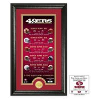 NFL San Francisco 49ers Limited Edition Super Bowl Legacy Framed Wall Art with Bronze Team Coin
