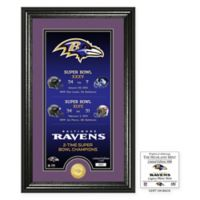 NFL Baltimore Ravens Limited Edition Super Bowl Legacy Framed Wall Art with Bronze Team Coin