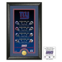 NFL New York Giants Limited Edition Super Bowl Legacy Framed Wall Art with Bronze Team Coin