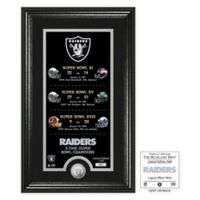 NFL Oakland Raiders Limited Edition Super Bowl Legacy Framed Wall Art with Bronze Team Coin