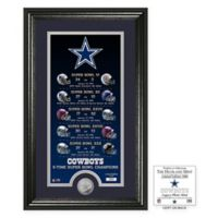 NFL Dallas Cowboys Limited Edition Super Bowl Legacy Framed Wall Art with Bronze Team Coin
