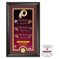 NFL Washington Redskins Limited Edition Super Bowl Legacy Framed Wall Art with Bronze Team Coin
