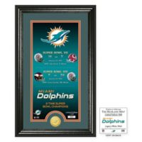 NFL Miami Dolphins Limited Edition Super Bowl Legacy Framed Wall Art with Bronze Team Coin
