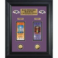 NFL Baltimore Ravens Limited Edition Super Bowl Ticket and Game Coin Collection