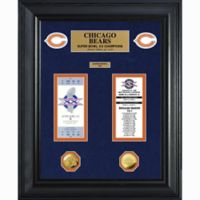 NFL Chicago Bears Limited Edition Super Bowl Ticket and Game Coin Collection