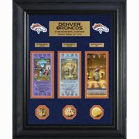 NFL Denver Broncos Limited Edition Super Bowl Ticket and Game Coin Collection