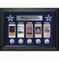 NFL Dallas Cowboys Limited Edition Super Bowl Ticket and Game Coin Collection