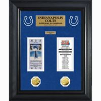 NFL Indianapolis Colts Limited Edition Super Bowl Ticket and Game Coin Collection