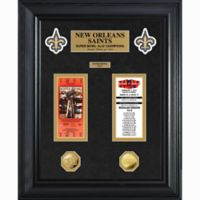 NFL New Orleans Saints Limited Edition Super Bowl Ticket and Game Coin Collection