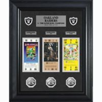 NFL Oakland Raiders Limited Edition Super Bowl Ticket and Game Coin Collection