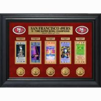 NFL San Francisco 49ers Limited Edition Super Bowl Ticket and Game Coin Collection