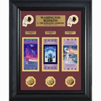NFL Washington Redskins Limited Edition Super Bowl Ticket and Game Coin Collection