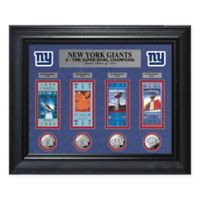 NFL New York Giants Limited Edition Super Bowl Ticket and Game Coin Collection