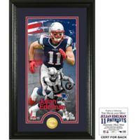 NFL New England Patriots Julian Edelman Supreme Bronze Coin Photo Mint
