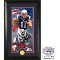 NFL New England Patriots Julian Edelman Supreme Bronze Coin Photo Mint