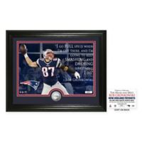 NFL New England Patriots Rob Gronkowski Quote Photo Mint