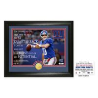 "NFL Eli Manning ""Quote"" Photo Mint"