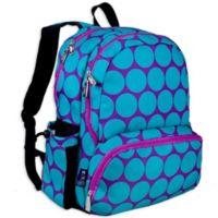 Wildkin Big Dot Megapak Backpack in Aqua/Purple