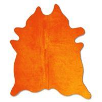 Natural Rugs Geneva Cowhide 6-Foot x 7-Foot Area Rug in Orange