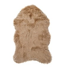 Luxe Gordon Faux Fur Sheepskin Shag Rug/Throw