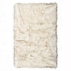Luxe Hudson Faux Fur Sheepskin 3-Foot x 5-Foot Shag Rug/Throw in Gradient Brown