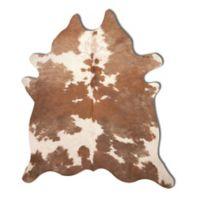 Natural Rugs Kobe Cowhide 6-Foot x7-Foot Area Rug in Brown/White