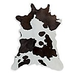 Natural Rugs Calfskin Cowhide 2-Foot x 3-Foot Accent Rug in Chocolate/White