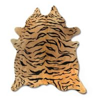 Natural Rugs Togo Cowhide 6-Foot x 7-Foot Area Rug in Tiger