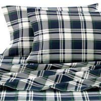 Rosmont Flannel Twin Sheet Set in Aqua