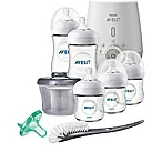 Philips Avent Natural 8-Piece Wide Neck Stage 1 Premium Gift Set With Bottle Warmer