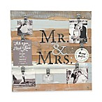 "Sweet Bird & Co. ""Mr. & Mrs."" 22-Inch x 22-Inch 7-Clip Picture Frame"