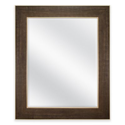 30 Inch X 36 Rectangular Embossed Tzoid Mirror In Walnut Gold