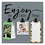 "Malden® 3-Photo ""Enjoy the Little Things""  Display Board with Clips"
