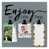 """Malden® 3-Photo """"Enjoy the Little Things"""" Display Board with Clips"""