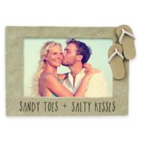 """Grasslands Road™ """"Sandy Toes & Salty Kisses"""" 4-Inch x 6-Inch Picture Frame"""