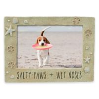 "Grasslands Road™ ""Salty Paws & Wet Noses"" 4-Inch x 6-Inch Picture Frame"