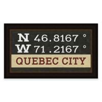 Quebec City Coordinates Framed Wall Art
