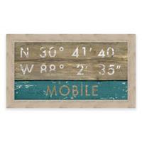 Mobile AL Coordinates Framed Wall Art