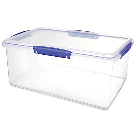 Sistema klip it 9 6 liter food storage container in clear blue bed bath beyond for Clear bathroom containers