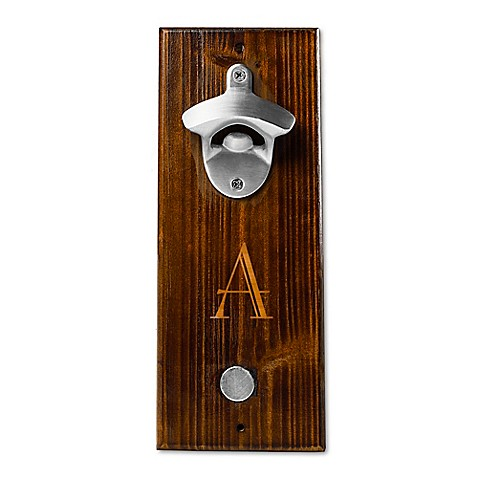 cathy 39 s concepts rustic wall mount bottle opener in brown bed bath beyond. Black Bedroom Furniture Sets. Home Design Ideas